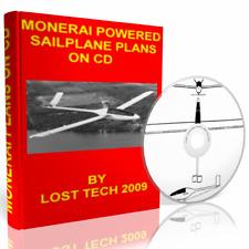 Build Ultralight Monerai Powered Sailplane Plans On Cd Plus Extras
