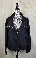 Urban Outfitters womens long sleevezip front jacket pockets size large bb16