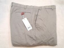 Hiltl Stretch Cotton Doyle Khaki Pants NWT $245 40 Waist Unhemmed Light Gray