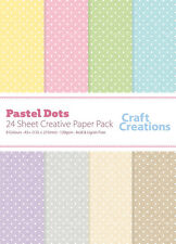 Craft Creations A5+ Scrapbook Paper Polka Dots On Pastel Texture Effect 120gsm