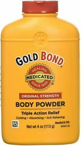 Gold Bond Medicated Body Powder Cooling Absorbing Itch Relieving 4 oz 113g