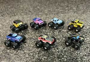 Micro Machines Monster Trucks Vintage 1990 Galoob Toy lot of 7