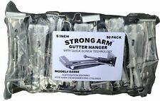 """Quick Screw 5"""" 50 Pack Heavy Duty Hidden Rain Gutter Bracket Hook hangers w/Clip"""