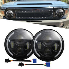 "7"" LED 150W Headlight DRL Hi/Lo Beam Halo For Jeep Wrangler Chevy Hummer H1 H2"