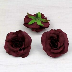 "10/30X 2"" Small Rose Artificial Silk Fake Flowers Heads for Wedding Home Decor"