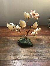 More details for antique chinese bonsai tree mop and coral flowers vintage tree of life