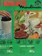 L- Publicité Advertising 1963 Moulin à café et Combiné Jeannette Moulinex