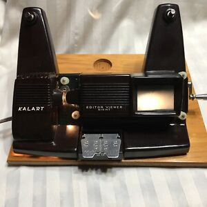 Vintage Kalart Editor Viewer Eight Movies Black White Color Untested Lights Up