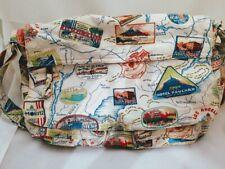 FOSSIL ST. MORITZ  TRAVELER MAP PRINT CROSSBODY BAG PURSE