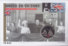 2005 Route to Victory Poppy Coin Cover First Day Cover FDC : VE Day St Pauls