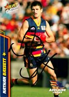 ✺Signed✺ 2007 ADELAIDE CROWS AFL Card NATHAN BASSETT
