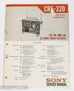 CRF-320 Service Manual For Classic Radio Receiver - Original Copy