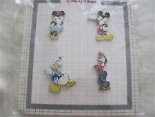 Disney Character  Booster Set- 4 Pins - Mickey,Minnie,Goofy+Donald (2014) NOC