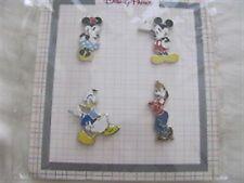 Disney Character  Booster Set- 4 Pins - Mickey,Minnie,Goofy+Donald (2014) NOC