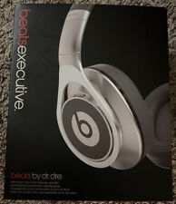 Beats by Dr. Dre Executive Over-Ear Headphones - Noise-Canceling - Silver