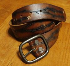Vintage Leather Belt Unisex Mens Womens Hippie Boho Xs 30 32 70s retro