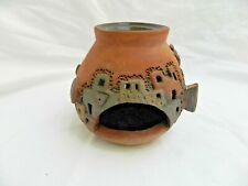 """Egyptian Real Life Clay Collectible HandMade Village Fireplace Essence Burner 4"""""""