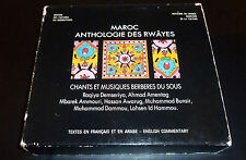 """MAROC: Anthologie Des Rwayes"" MOROCCO (4-CD 1991) Made in France **VERY GOOD**"
