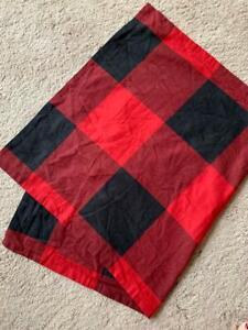 Pottery Barn ONE Buffalo Check Plaid KING Pillow Sham NEW Red Black