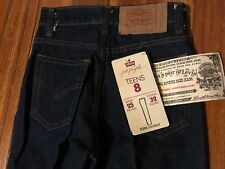 Vintage 80s NWT Levi's 505 Just For Girls Teens Blue Jeans Size 8 Made In USA
