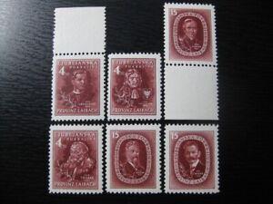 LAIBACH THIRD REICH WWII OCCUPATION Mi. #IA-VIA mint MNH stamp set! CV $550.00