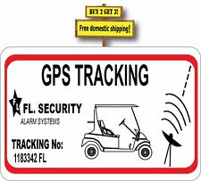 GPS Tracking Golf Cart System Safety Decal Sticker