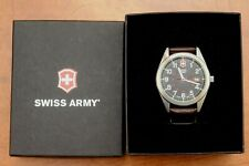 Swiss Army Watch Model # Inc 87420 Leather Band Swiss Made Large 42mm