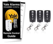 YALE HSA6060 Compatible Remote Control Keyfobs x3 For HSA6400 / 6000 Yale Alarms