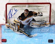 Tuukka Rask Boston Bruins Signed Autographed Overhead Stick Action 16x20