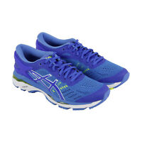 Asics Gel Kayano 24 Womens Blue Narrow B Canvas Low Top Athletic Running Shoes 5