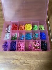 Thousands Of Rainbow Loom Bands With Carrying Case