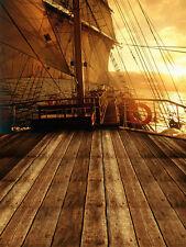 Pirate Ship Vinyl Studio Backdrop Photography Prop Photo Background 10x10ft 2405
