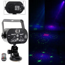 Mini RG Laser Projector RGB LED Party Stage Light 30 Patterns DJ Disco KTV USB