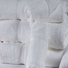 12 new white premium hand towels 16x27 4.5 # plush 100% cotton hotel hand towels