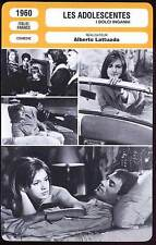 LES ADOLESCENTES (Fiche Cinéma) 1960 - I Dolci Inganni  /  Sweet Deceptions