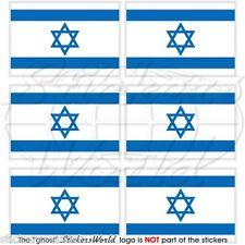 "ISRAELE BANDIERA ISRAELE ebrei 40mm (1.6"") Mobile Cellulare Mini Adesivi-Decalcomanie x6"