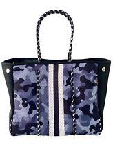 Handbag Beach Gym Diaper Bag Camo Print Neoprene Tote and Matching Wristlet