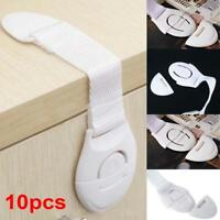 10pcs Child Infant Baby Kids Toddler Safety Door Cabinet Drawer Cupboard Lock UP