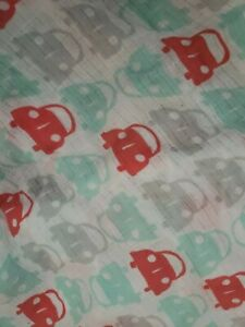 Ideal Baby~Aden + Anais~Muslin Fitted Crib Sheet~Cars Road Trip