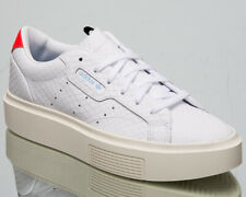 adidas Originals Sleek Super Womens White Casual Lifestyle Sneakers Shoes EF1897