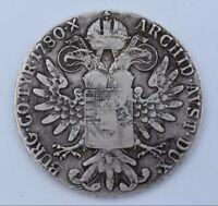 Austria - Maria Theresia of Habsburg, 1780 Silver 1 Thaler Coin