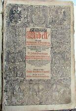 1607 ILLUSTRATED GERMAN BIBLE FOLIO leather binding