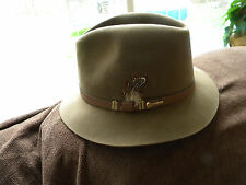 272a54b0e1b Royal Biltmore Hat Walnut Fur Felt Fedora Size 7 1 4″
