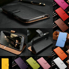 For Samsung Galaxy Series Genuine Real Leather Card Wallet Flip Phone Case Cover