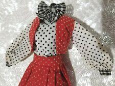 Vintage Barbie Best Buy #3203 (1973) Flocked Dots Red & White Ensemble