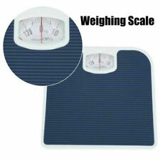 BATHROOM SCALE WEIGHING BODY WEIGHT MECHANICAL HOME LOSE FAT DIAL WHITE 130KG