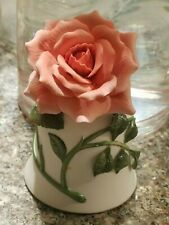 """Vintage 1983 Franklin Mint """"The Sonia Rose"""" Bone China Bell by Jeanne Holgate"""