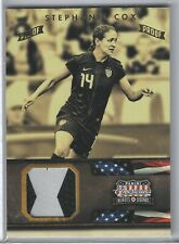 US Womens Soccer Relic 2012 Panini Americana GOLD Proof Stephanie Cos 8/10 GPC