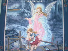 "2 Blocks GUARDIAN ANGEL Child Protectress Spiritual Fairy 18"" x 44"" Panel BLUE"