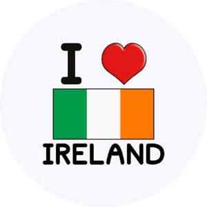 24 x 40mm Round 'I Love Ireland' Stickers (SK00000044)